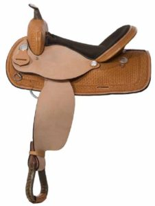 "No. 30701Out West Barrel Saddle  14, 15, 16"" Seat"