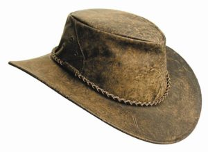 N o. 7HI9Narabeen Leather Hat, Grain Kangaroo Leather,
